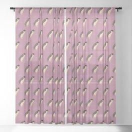 Falcons on purple Sheer Curtain