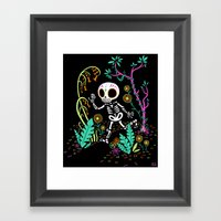 Sugar Skull Jungle Framed Art Print