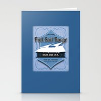 ale giorgini Stationery Cards featuring Full Sail Barge Ale by Mike Sapora Demaine