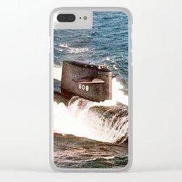 USS ETHAN ALLEN (SSBN-608) Clear iPhone Case