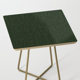 Loops & Curves - Green Side Table