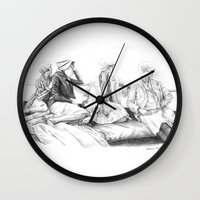 women Wall Clocks featuring Women by Alessia Pelonzi