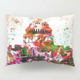 United States Capitol Grunge Pillow Sham