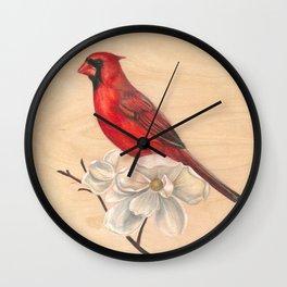 Cardinal & Bloom Wall Clock