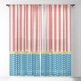 Superhero Wonder Pattern I Sheer Curtain