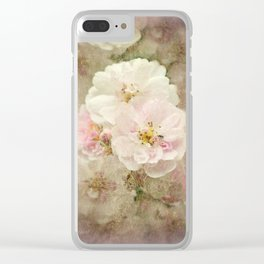 Nostalgic Blossoms Clear iPhone Case