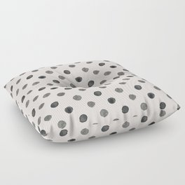 Hand drawn grey dots on pink- Mix&Match with Simplicty of life Floor Pillow