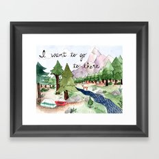 I Want To Go To There Framed Art Print
