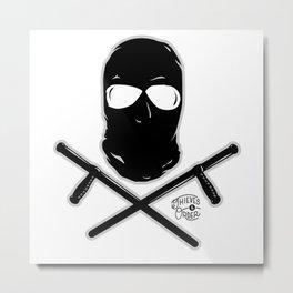 Ski Mask and Night Sticks Metal Print