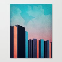 skyline Canvas Prints featuring Skyline by Liall Linz