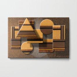 Abstract furniture Metal Print