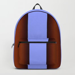Bright Blue Brown Stripes Background Backpack