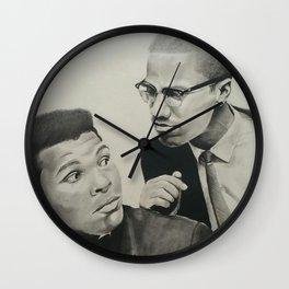 Muhammad and Malcolm Wall Clock
