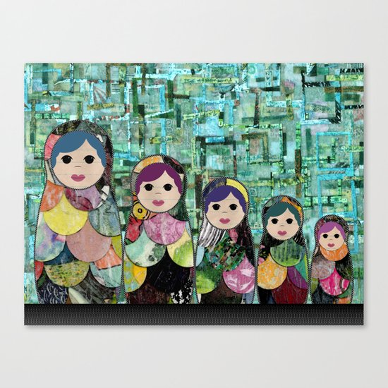 Matryoshka Nesting Dolls Canvas Print
