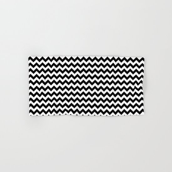 Chevron (Black/White) Hand & Bath Towel