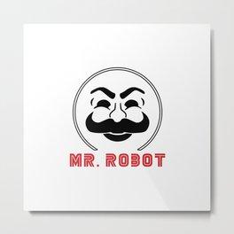 MR Robot Fsociety Metal Print