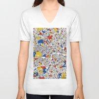 mondrian V-neck T-shirts featuring London Mondrian by Mondrian Maps