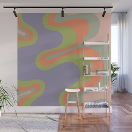 Popart pattern, modern, minimal, playful  Wall Mural