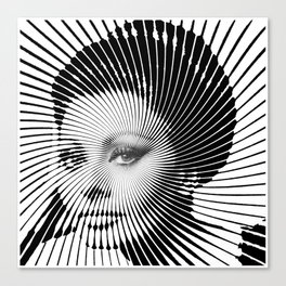 Op Art Sophia Loren Canvas Print