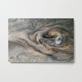 Luminous clouds of Jupiter mission flyby telescopic photograph Metal Print