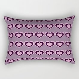 Pastel hearts love pattern embrace friendships, relationships Valentine's day Rectangular Pillow