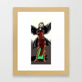 The Sacrificial Blade, framed in Moonlight Framed Art Print