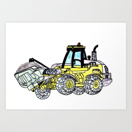 Front-End Loader Art Print