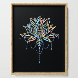 Pastel Lotus Serving Tray