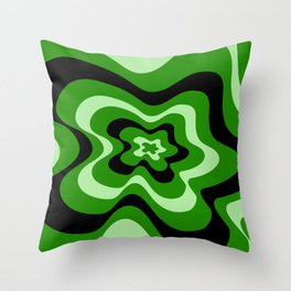 Abstract pattern - green and black . Throw Pillow