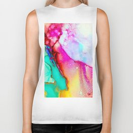 Bianca #abstract #modernart Biker Tank