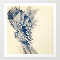 polygon Art Prints featuring Polygon Tower by Intelligent Pencil