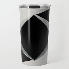 Shapes, black and grays Travel Mug
