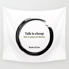 Quote About Listening and Success Wall Tapestry