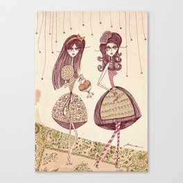 Two girls Canvas Print