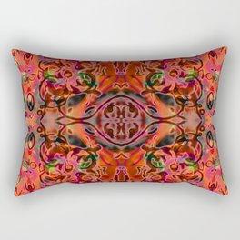 Coral Ornate Fusion Rectangular Pillow