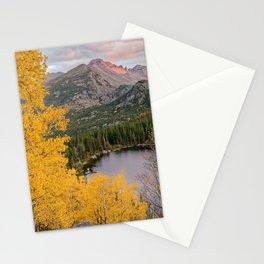 ROCKY MOUNTAIN AUTUMN COLORADO NATIONAL PARK BEAR LAKE LANDSCAPE Stationery Cards