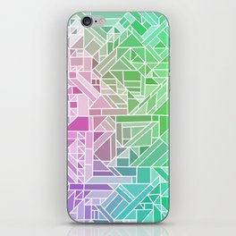Bright Gradient (Violet Purple Lime Green Neon Yellow) Geometric Pattern Print iPhone Skin