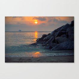 The Ft. Lauderdale Jetties Canvas Print