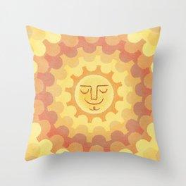 Sun Day Throw Pillow