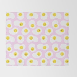 Cute Fried Eggs Pattern Throw Blanket