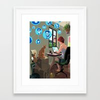 laptop Framed Art Prints featuring Laptop by Josue Noguera
