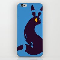 umbreon iPhone & iPod Skins featuring Shiny Umbreon-like cat rabbit fox  by Criminal Crow