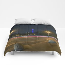 Nocturnal Landscape of Berlin Comforters