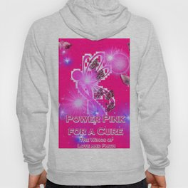 Power Pink For a Cure - The Wings of Love and Faith Hoody