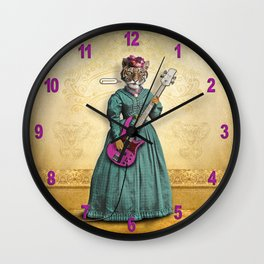 Tessy Tigress Shreds a Solo . . . Grrrrrr! Wall Clock