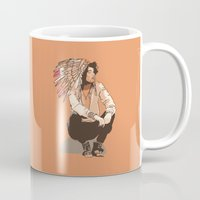 indie Mugs featuring Indie Chief by joshuahillustration