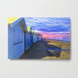Sunset at Cromer Beach, U.K Metal Print