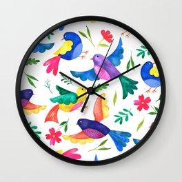 Mexican Birds Wall Clock
