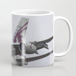 Qatar Airlines Airbus And Seagull Near Miss Coffee Mug