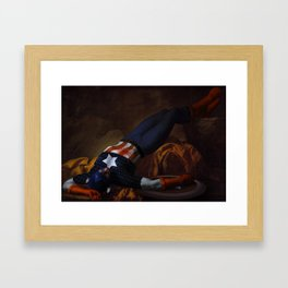 Death of Captain America Framed Art Print